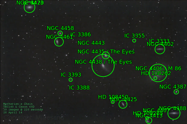 M84  -  Markarian's Chain