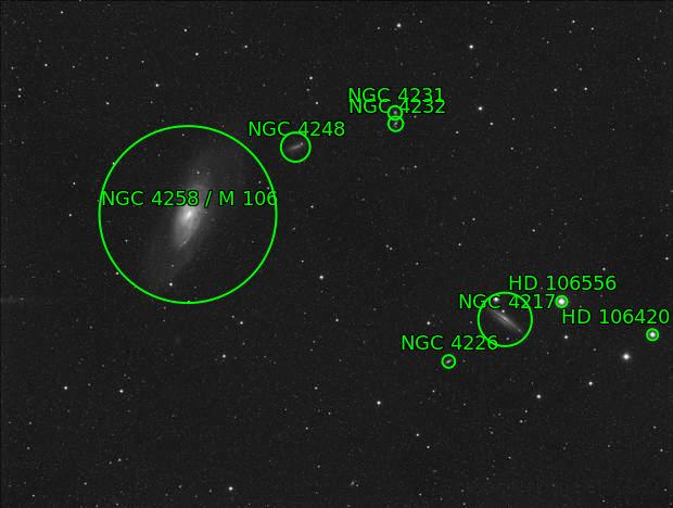 M106 (NGC4248) Galaxie spirale