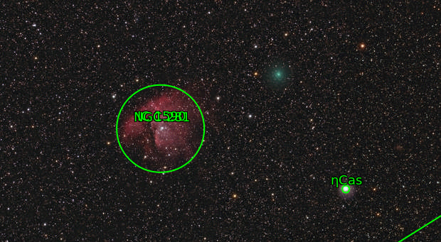 Comet 8P (Tuttle) close to NGC 281
