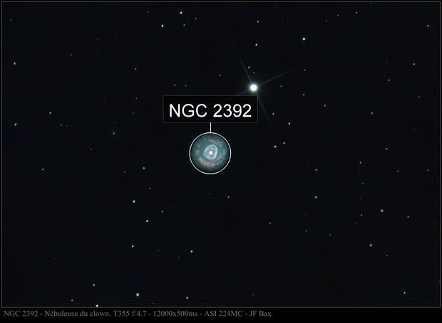 NGC 2392 clown nebula