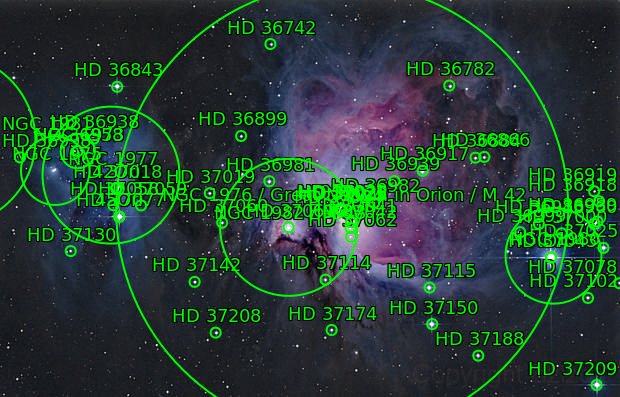 Great Orion nebula and running man HDR