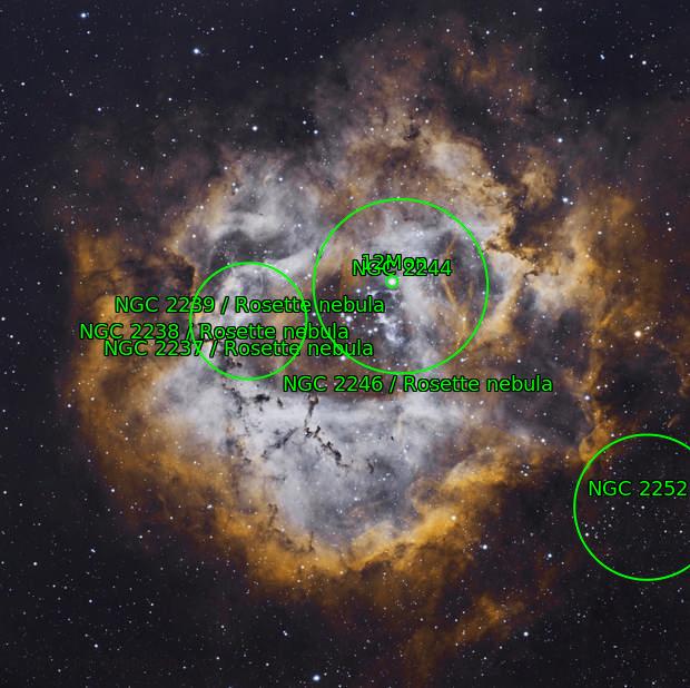 NGC2237 Nébuleuse de la Rosette en HaOO... bis