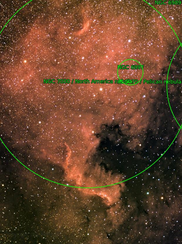 North America Nebula in RGB-Ha