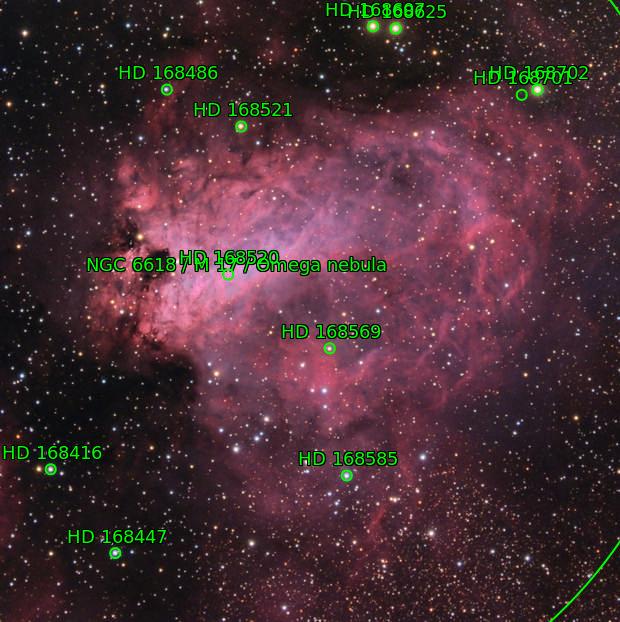M 17. Omega Nebula.