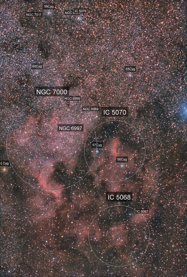 NGC7000 + IC 5067/70 light setup