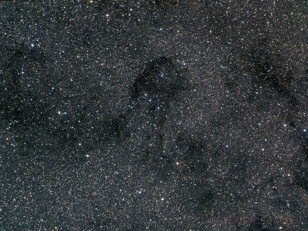 B 87 (the dark) Parrot's Head Nebula