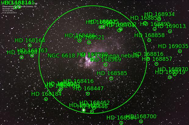 M 17 - Nebulosa do Cisce