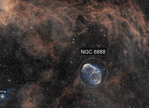 Crescent Nebula - SHO