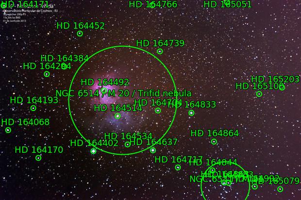 M20 - Nebulosa Trífida