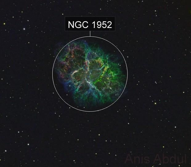 Messier 1 - Crab Nebula - SHO