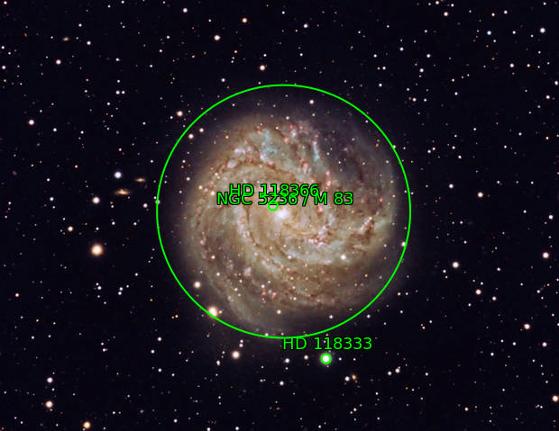 Southern Pinwheel (M83) from the Winter Star Party