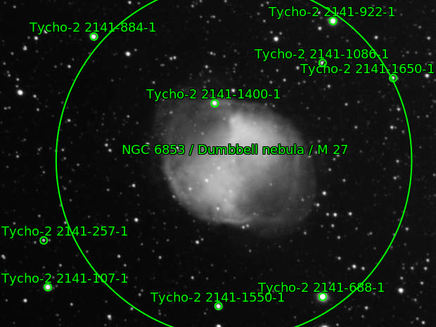 M27 narrowband OIII