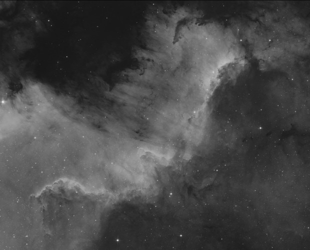 "NGC 7000 ""The Wall"" In H-alpha"