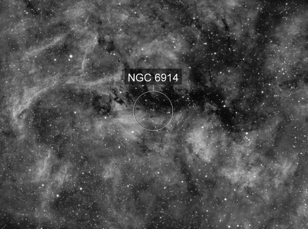 Reflexion Nebula NGC6914 in Hα widefield