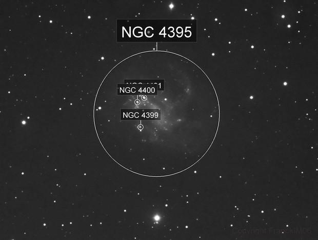 NGC 4395 avec une surface très faible