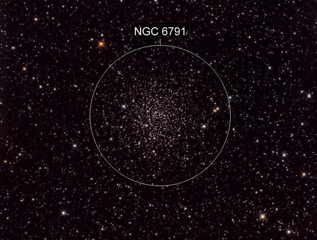 Open Star Cluster NGC 6791 at 0.479 arcsec/pixel