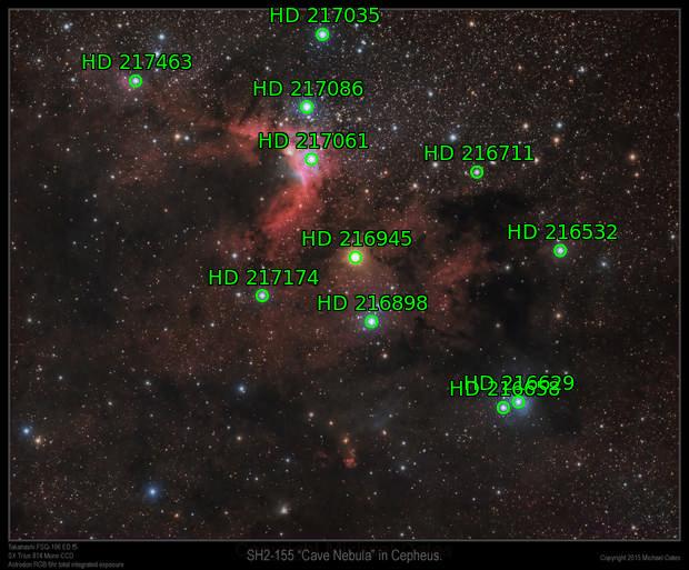SH-2 155 Cave Nebula in Cepheus (RGB)