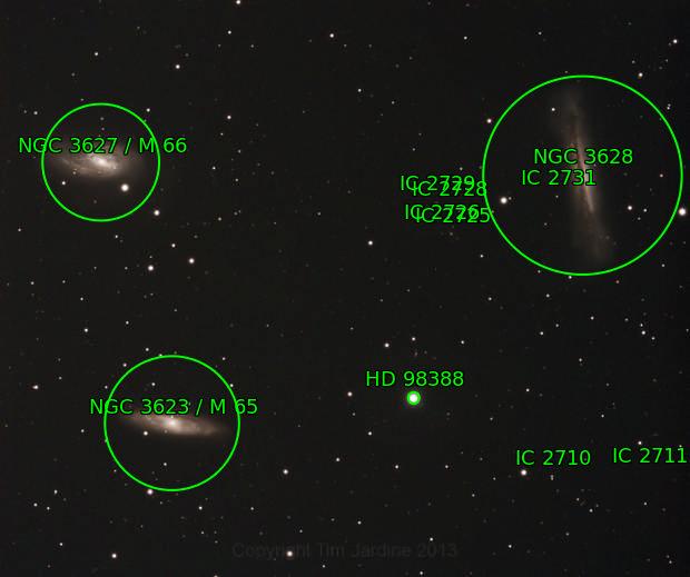 Leo Triplet with Skywatcher Triplet