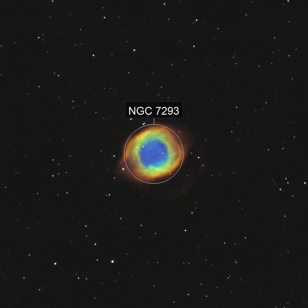 NGC7293 Helix nebula HaO3 bicolor