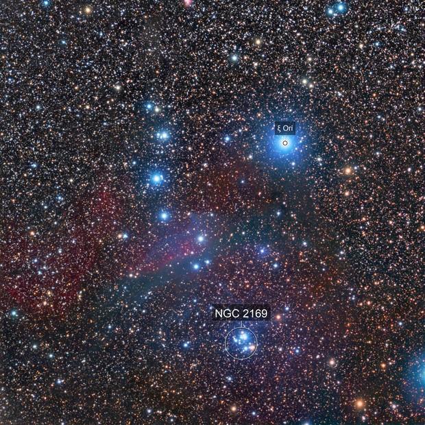 vdB71, NGC2169, Sh2-268; Orion