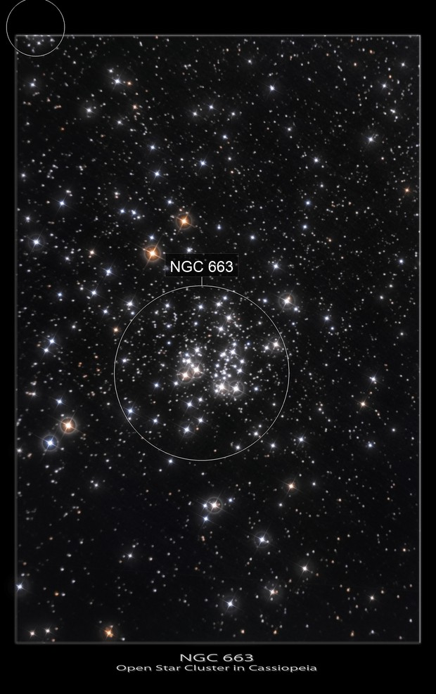 NGC 663- Open Cluster in Cassiopeia