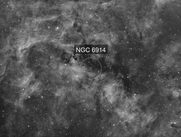 NGC 6914 - Halpha only