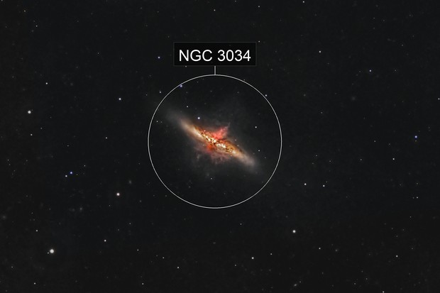 M 82 in Ha-RGB (ASI1600mmpro + Pentax K3II)