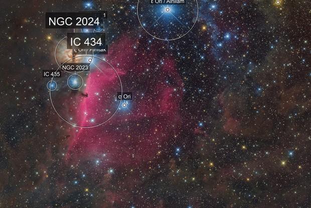 NGC2024/Flame Nebula, B33/Horsehead Nebula and IC434