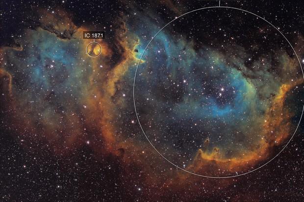 Soul Nebula - IC1848 - Hubble Palette