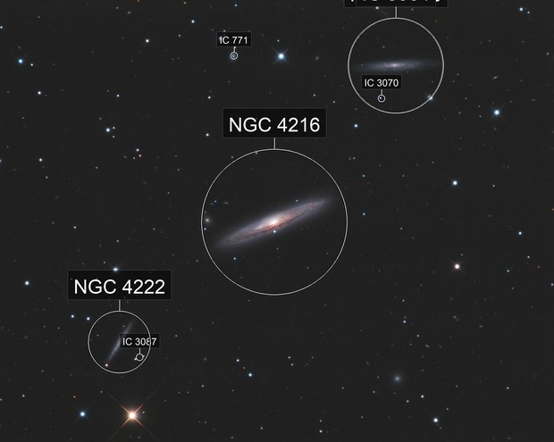 Virgo Triplet NGC4216 NGC4206 Ngc 4222 LRGB