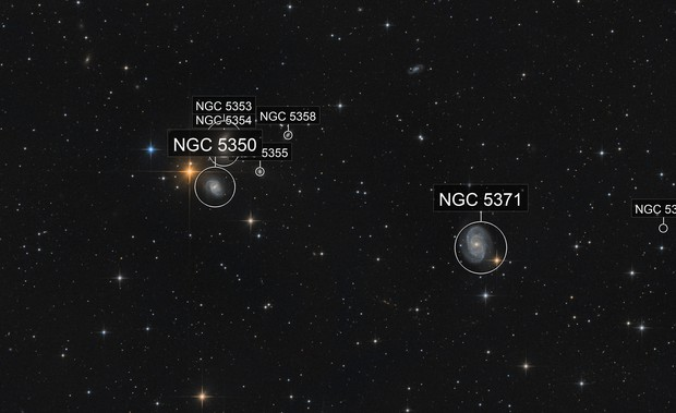 NGC5371 / NGC5350 & friends