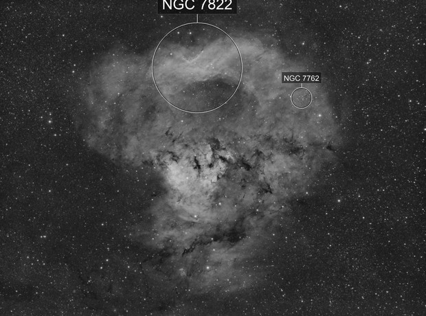 NGC 7822 WIP Canon 200mm Ha