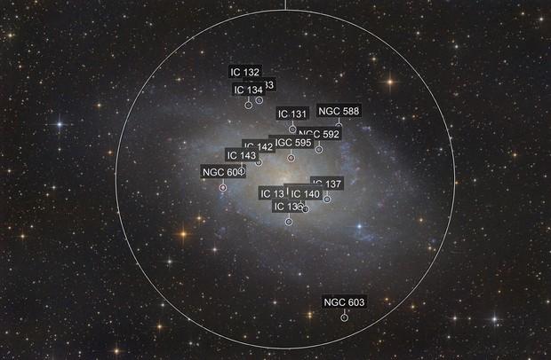 M33 die Dreiecksgalaxie