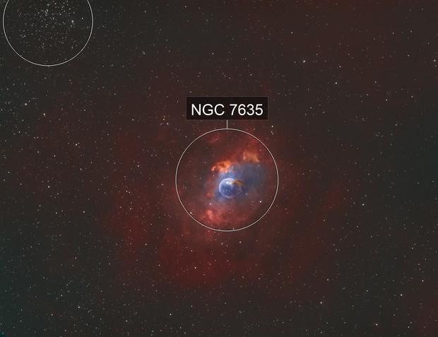 NGC 7635 + M52 in Bicolor (HOO)