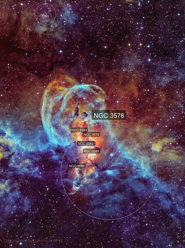 Taking Liberties : NGC 3576 in NB