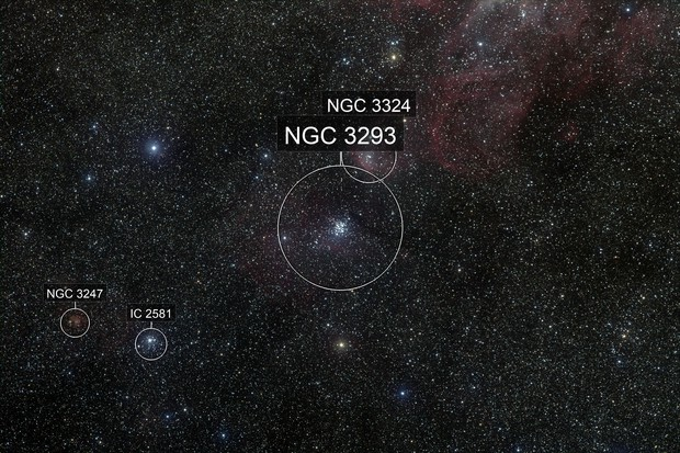 NGC 3293 Open Cluster in Carina