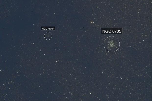 M 11 + NGC 6704
