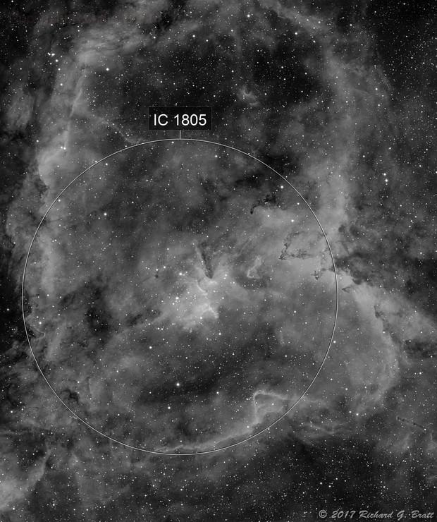 IC1805 - Heart Nebula in Ha (3 data sets)