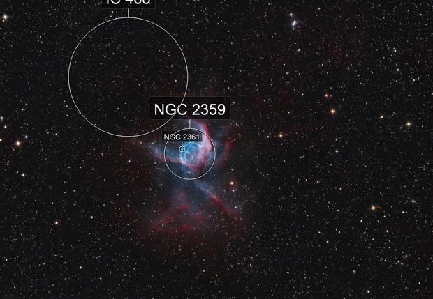 NGC 2359 Thors Helmet Bicolor
