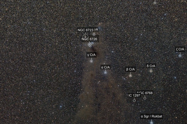 The faint dusty bits around NGC6726