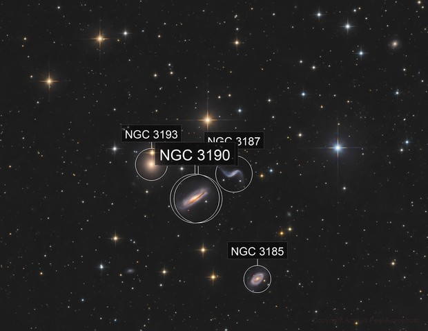 Hickson44 galaxy group  in Leo