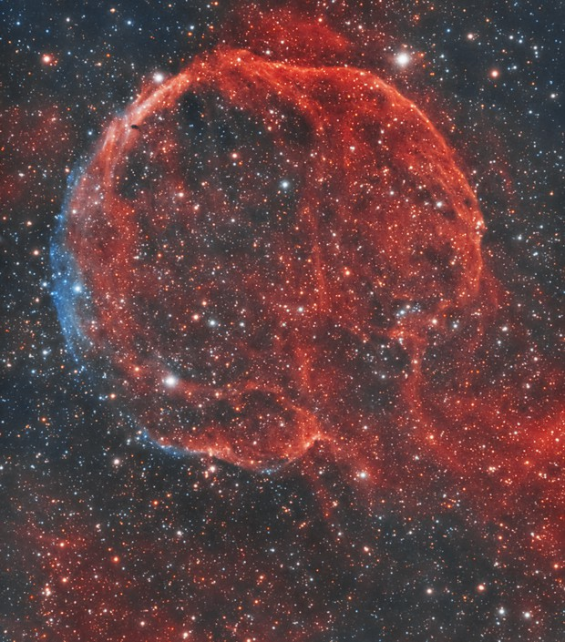 Popped Balloon Nebula Captured in HOO