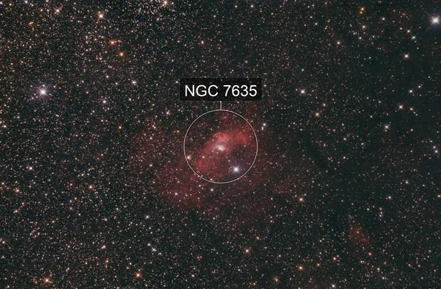 NGC 7635 - Bubble Nebula with DSLR