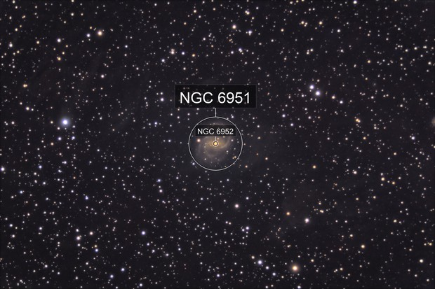 NGC 6951: Galaxy Within the Cosmic Fog