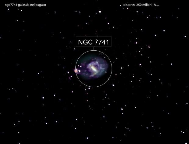 ngc7741 galassia nel  pegaso                                                   distanza 250 milioni  A.L.