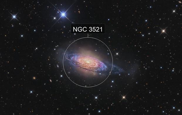 Flamboyant Flocculent galaxy - NGC 3521
