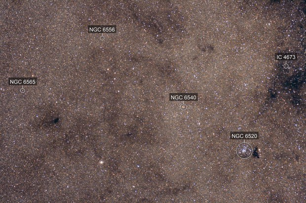 NGC6520, B84, B90
