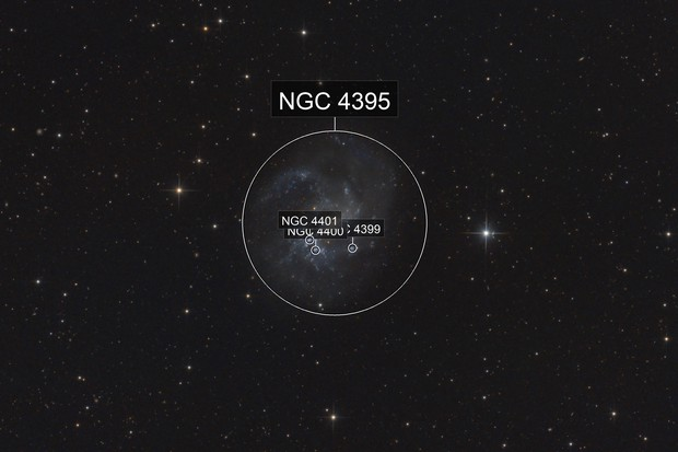 NGC 4395 - spiral galaxy in Canes Venatici