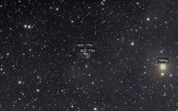 NGC 7753 - 7752 area