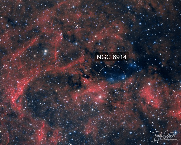 Yin-Yang in Cygnus (NGC 6914, vdBs, LDNs, LBNs)